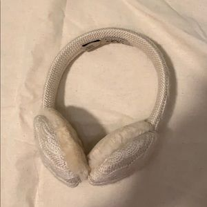 Cream UGG ear muffs